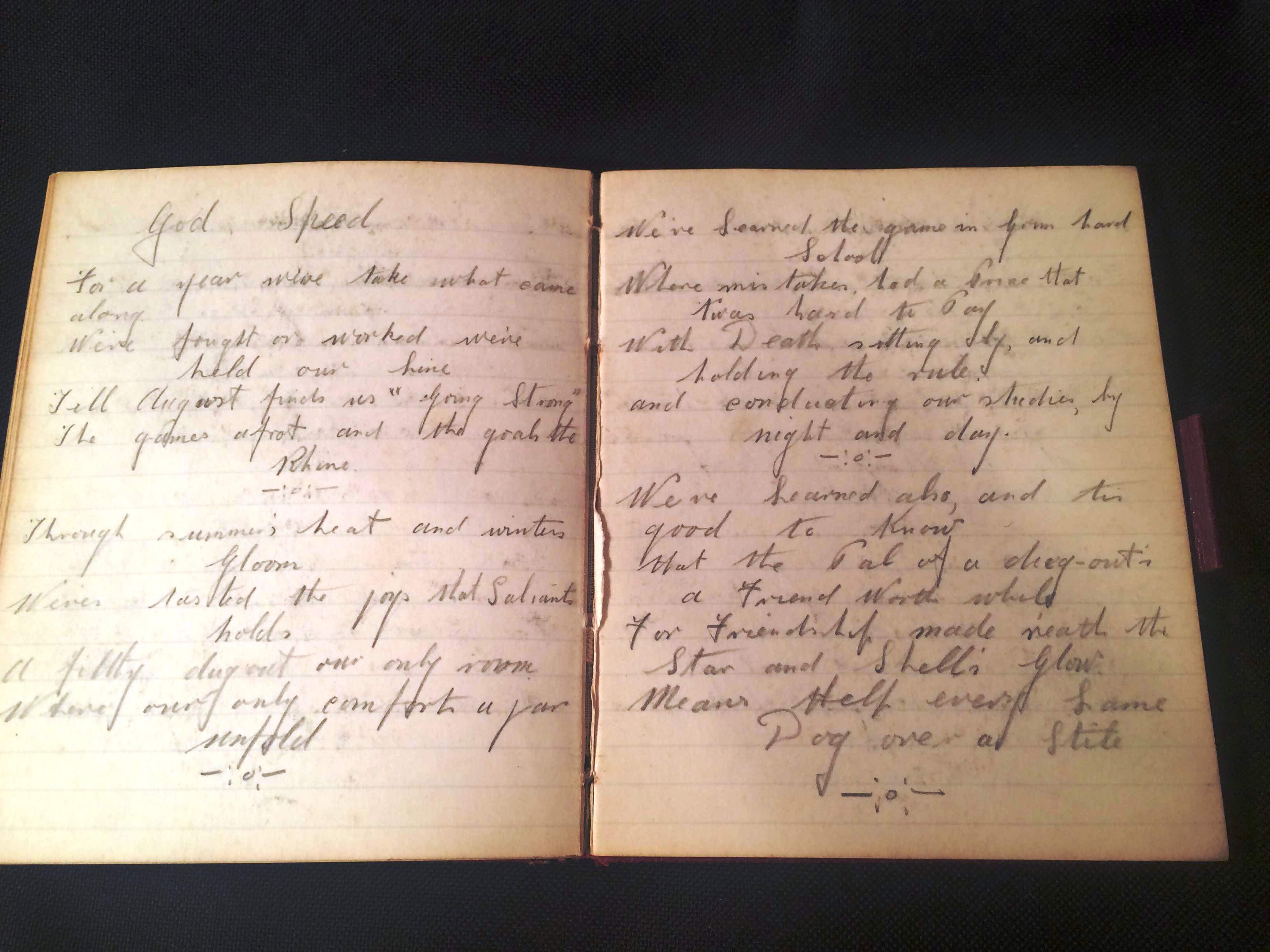 WWI items from soldiers at the hospital-autograph album signed by solders at the hospital