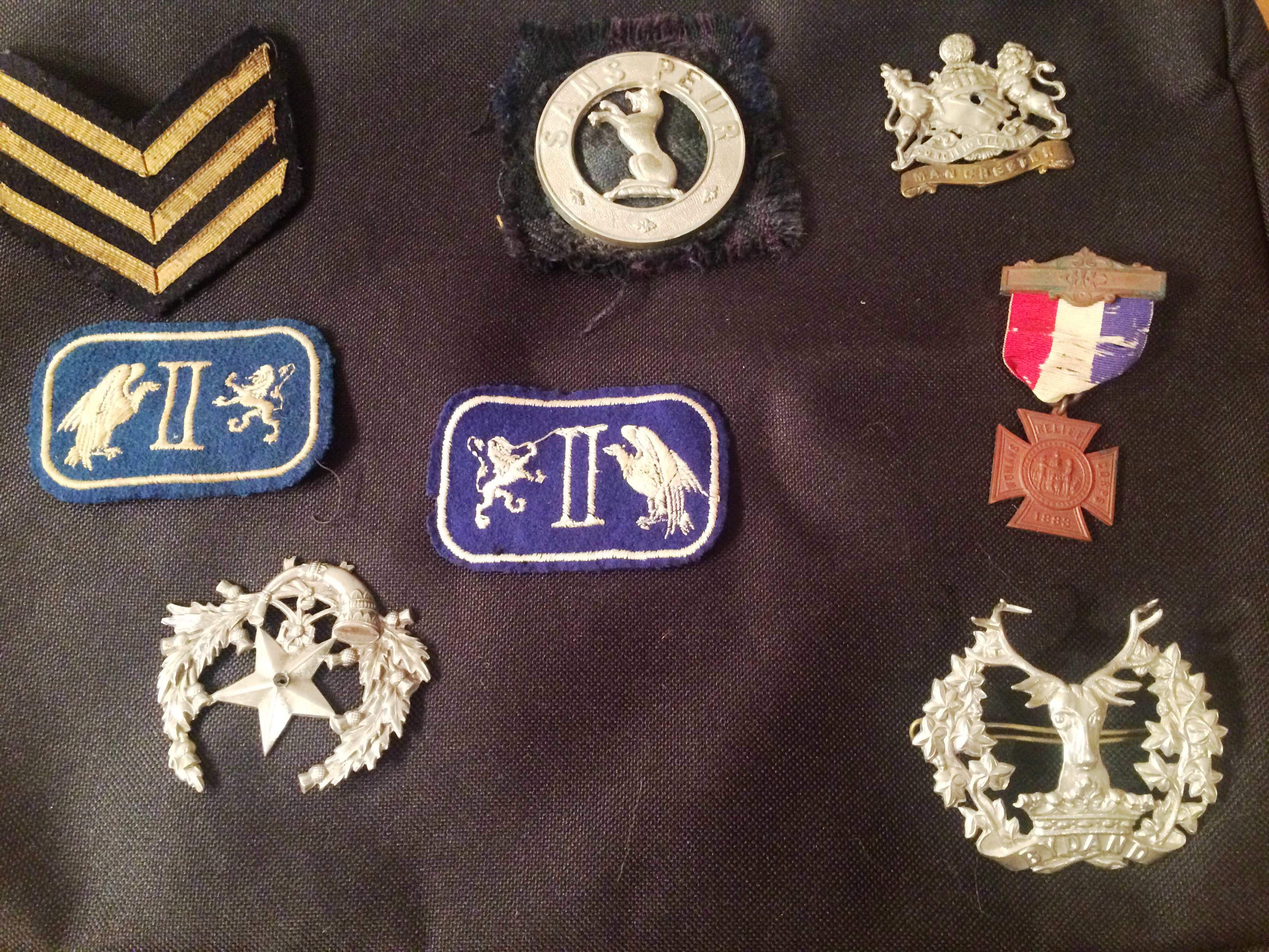 WWI items from soldiers at the hospital